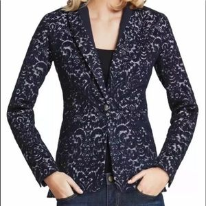 Cabi Wool blend blue cardigan.
